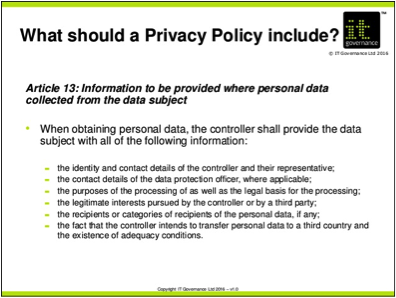 What Should Be Included In A Privacy Statement